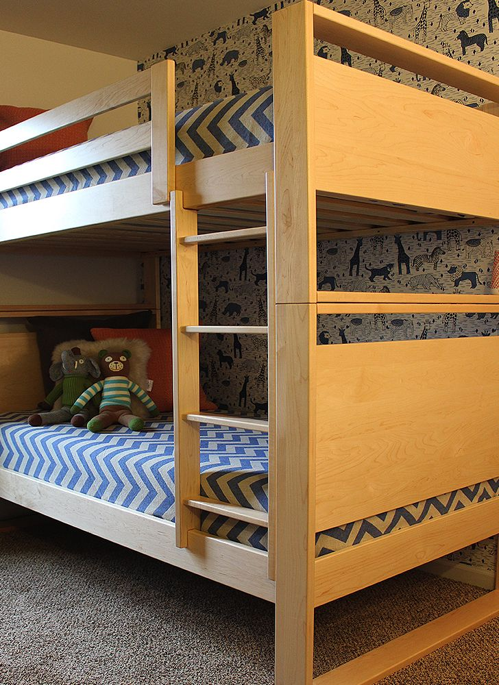 shared space for two boys with joy miles from lunchesandlittles dayton bunk bed for a kid s shared space ivo marty holzbau und schreinerei weingestell