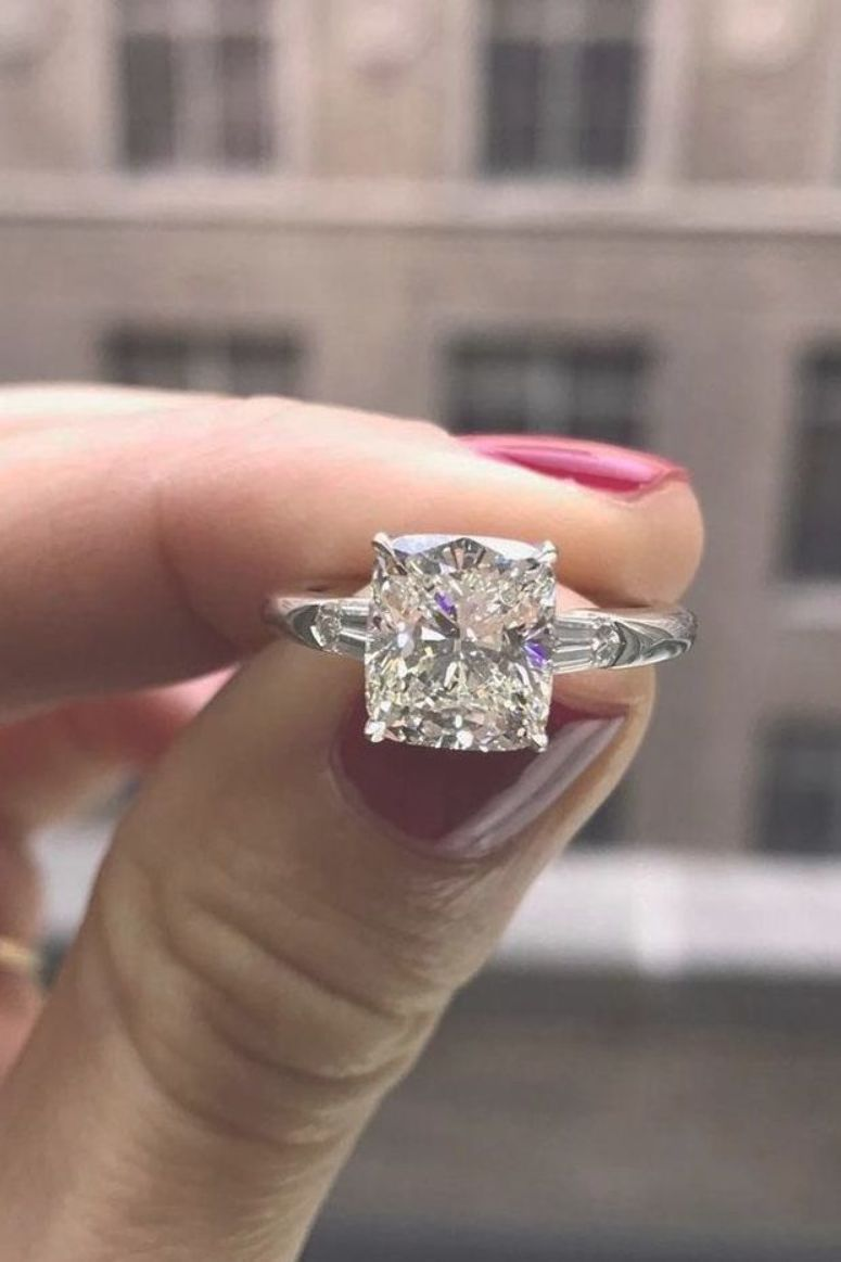 Perfect Solitaire Engagement Rings For Women ★ #engagementring #proposal #cushionengagementring