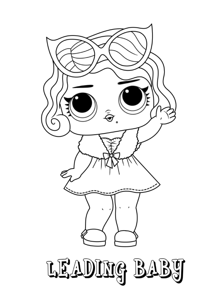 LOL Surprise dolls coloring page Series 28 Leading Baby  Ladybug