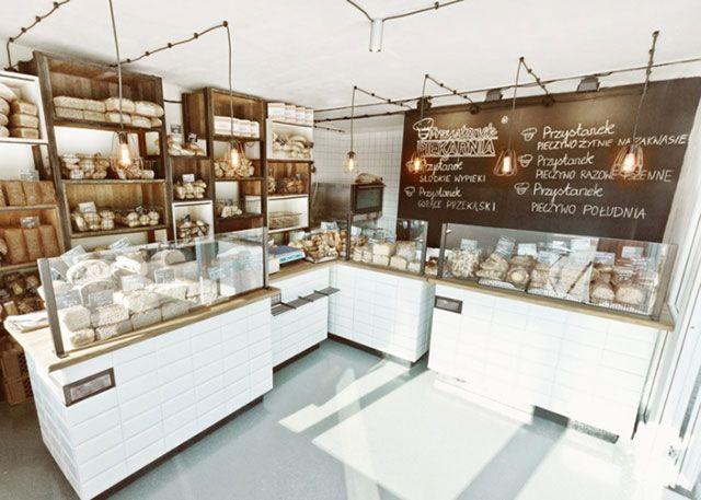 Decoracion panaderias modernas przystanek piekarnia for Diseno de cafeterias pequenas
