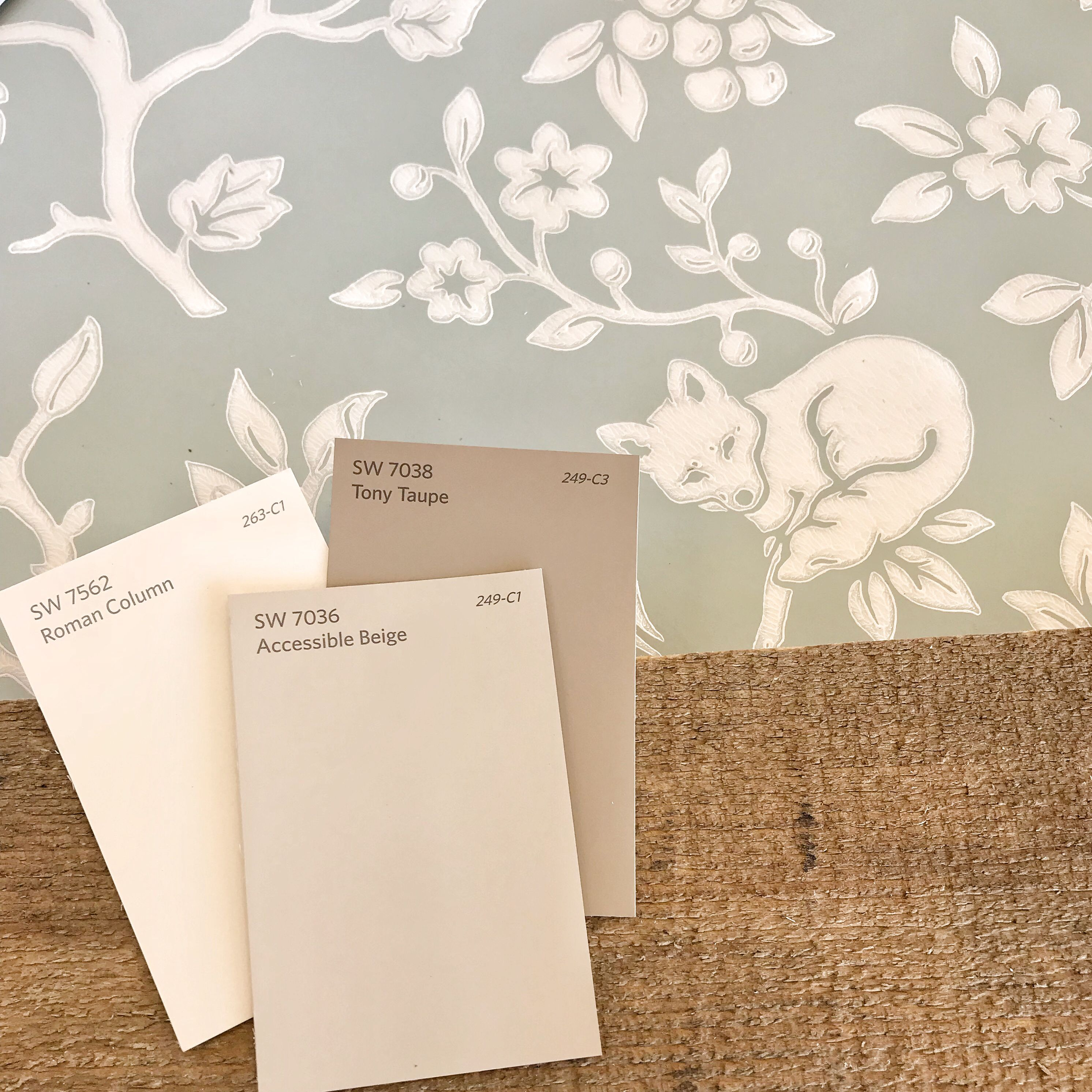 Fox And Hare Wallpaper By Magnolia Home Accessible Beige Sherwin Williams Paint Colors Joanna Gaines Wallpaper