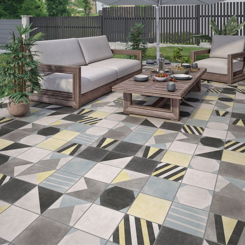 Carrelage Sol Et Mur Multicolore Effet Ciment Weekend L 20 X L 20