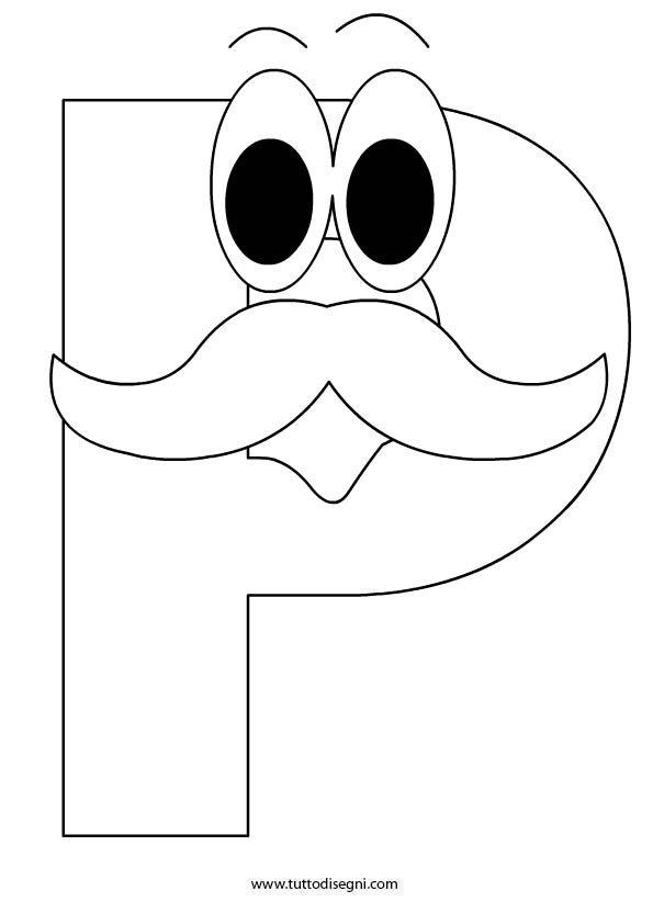 Lettera p abcs to color pinterest lettera p altavistaventures Choice Image