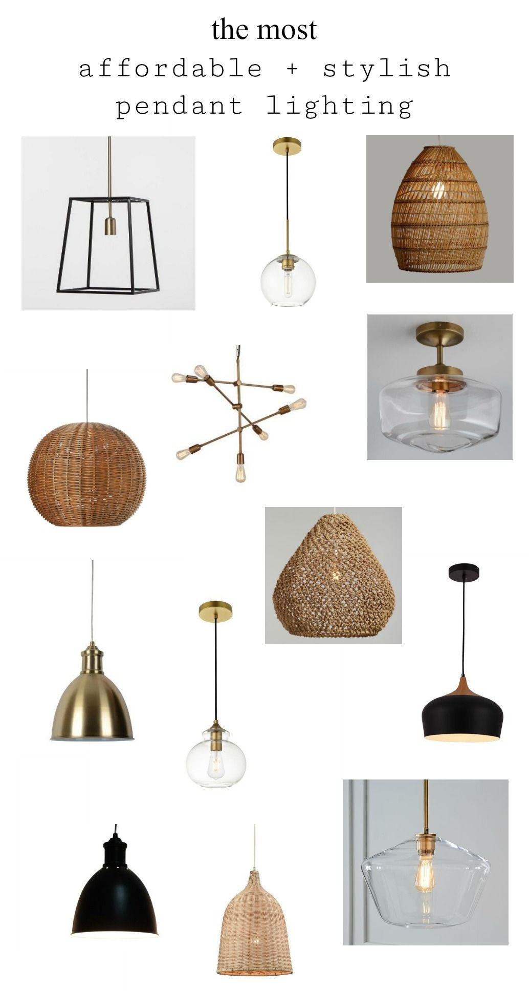 The Most Affordable + Stylish Pendant Lighting #pendantlighting