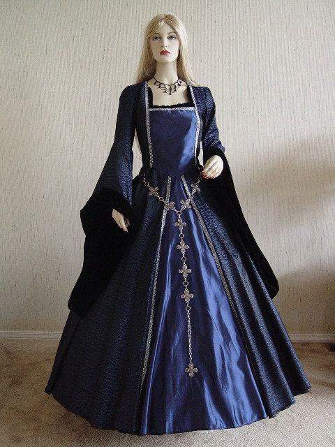 Renaissance tudor dress gown halloween by for Tudor style wedding dress