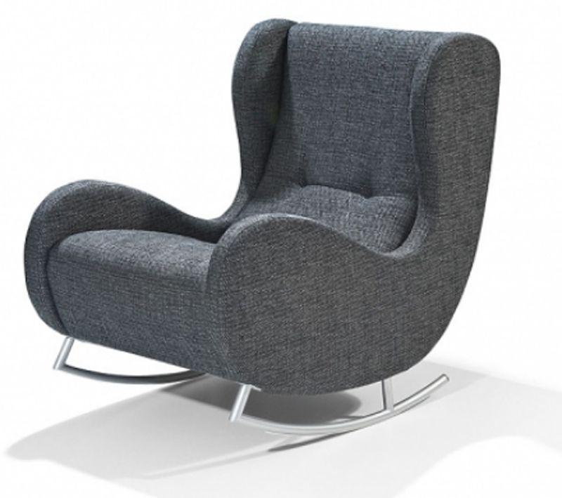 Ohrensessel mit hocker modern  Details zu Arte M Bill Modern Schaukeln Schaukelstuhl Sessel ...