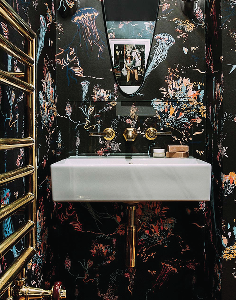 Browse the Great of Black Wallpaper Bathroom for iPhone 11 Pro Today from thepatterncollective.com