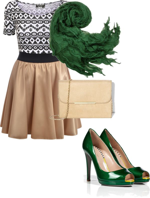 """""""The Girl in the Green Scarf"""" by meg-litts ❤ liked on Polyvore"""