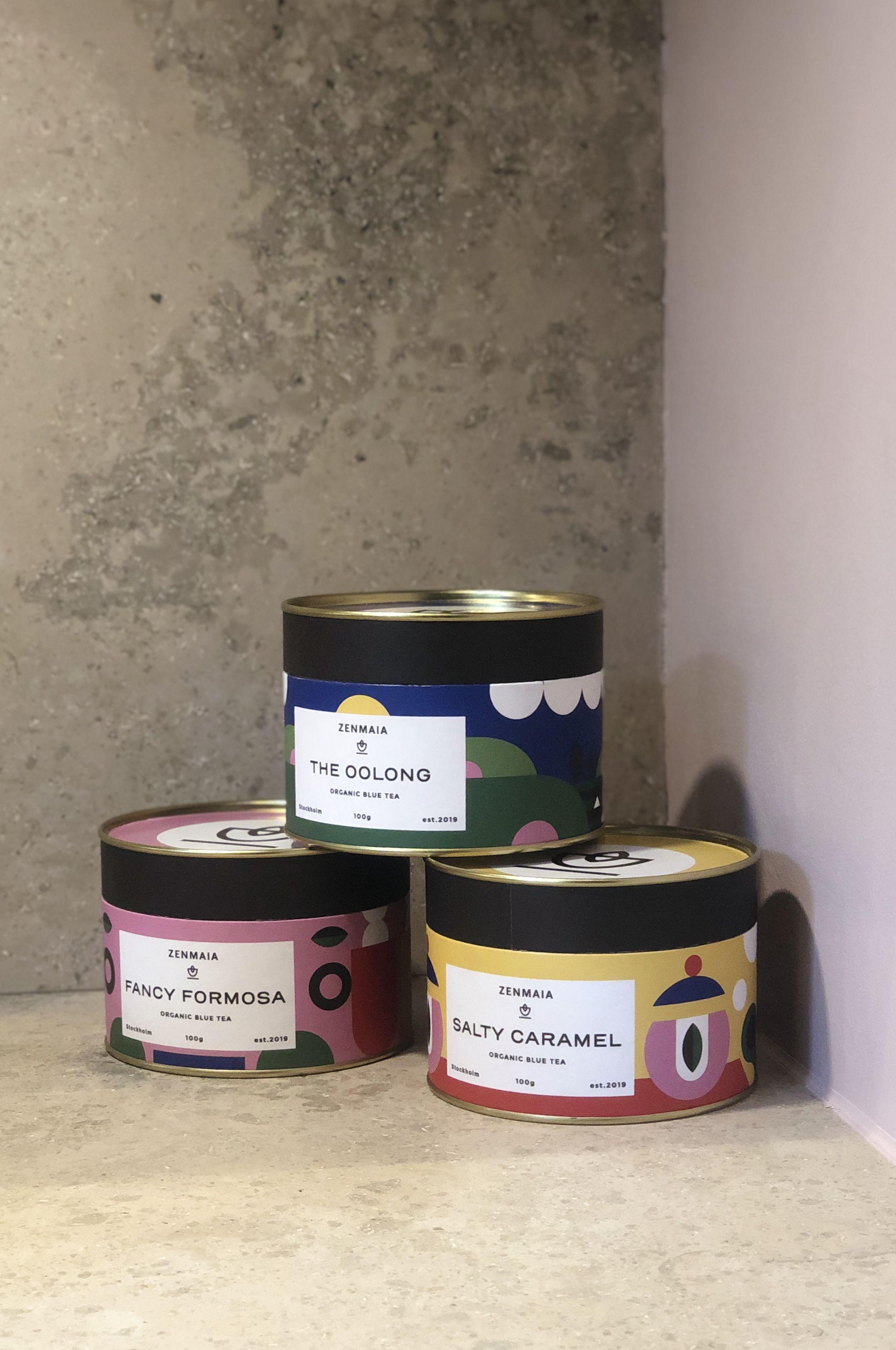 Zenmaia Organic Blue Tea Packaging design. Modern