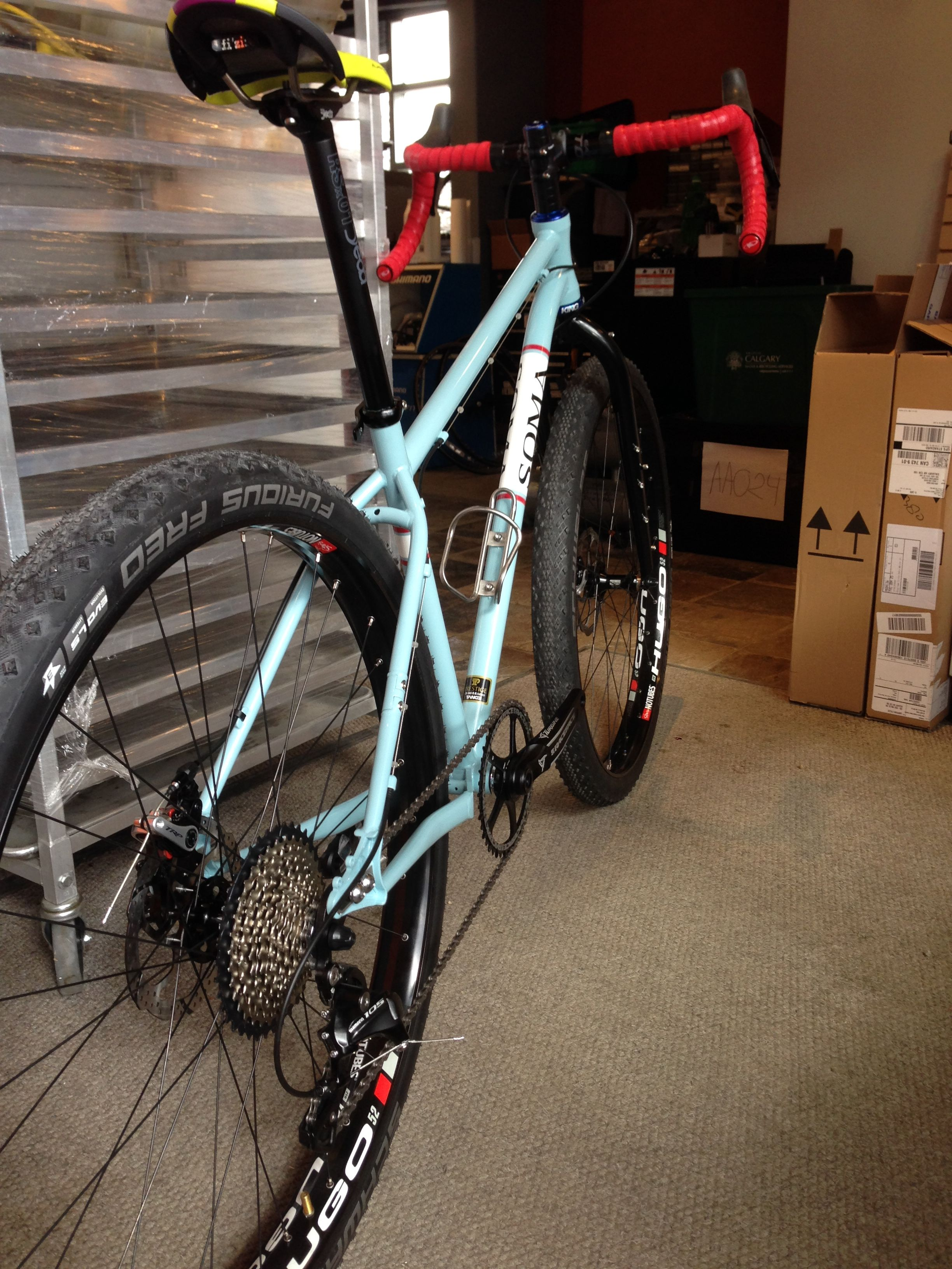 A couple more drivetrain tweaks and this Soma Juice drop bar 29er ...