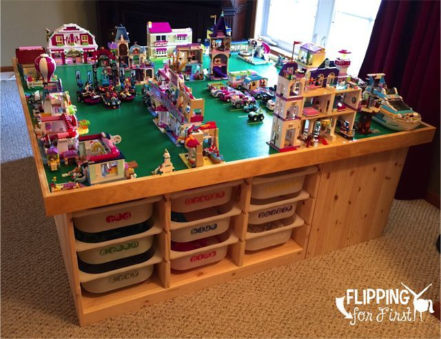 Flipping For First: DIY LEGO Table! This Is The Best Project Idea To Keep  All Those LEGOu0027s In One Place!