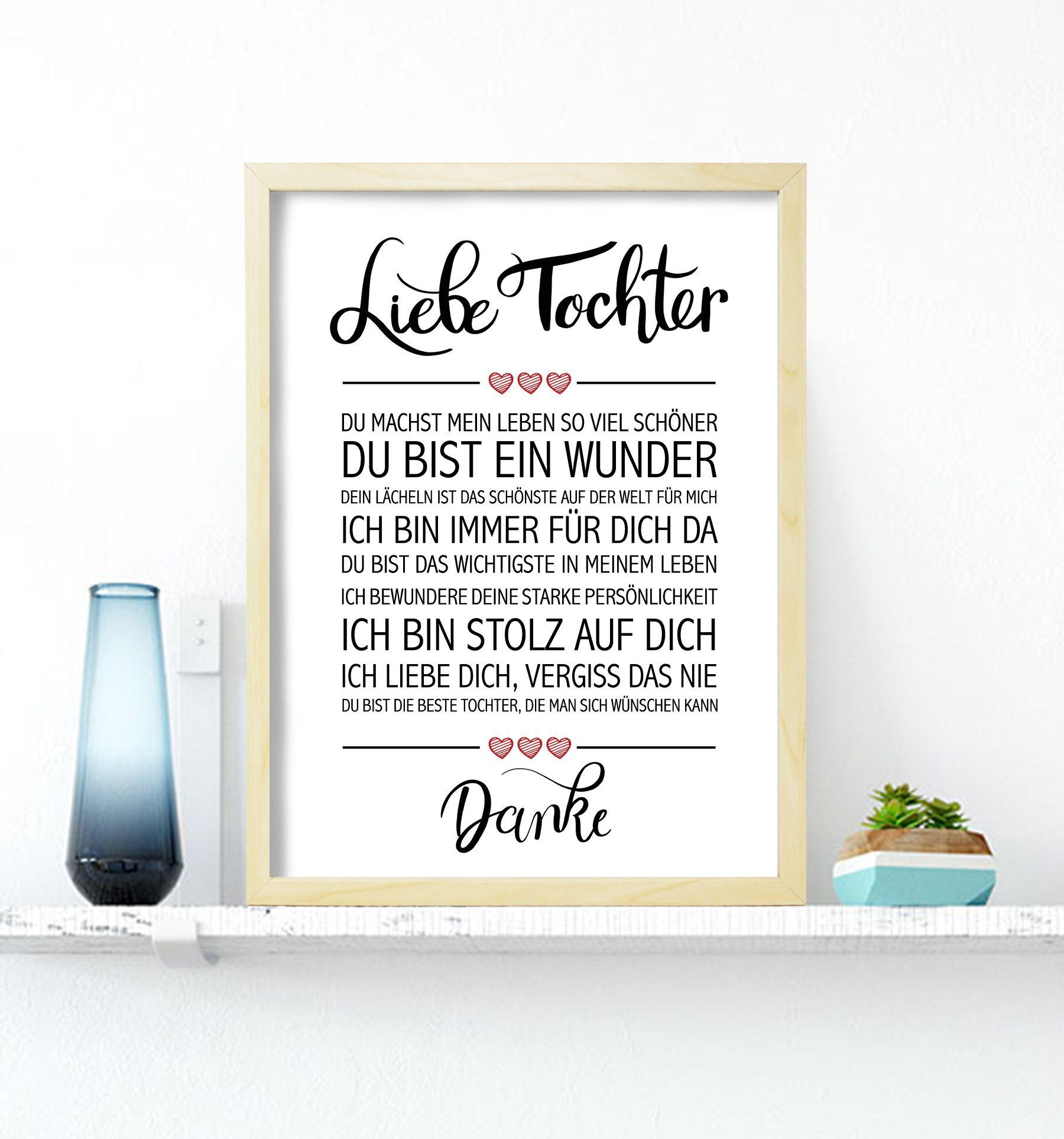 Liebe Tochter Gerahmter Geschenk Schwester Geschenk Fur Bruder