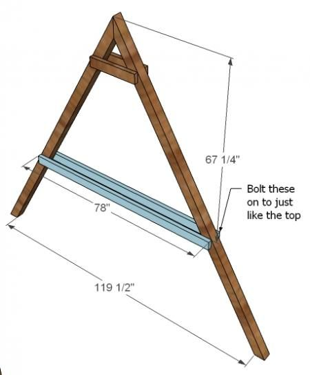 ana white build a how to build a swing set for the