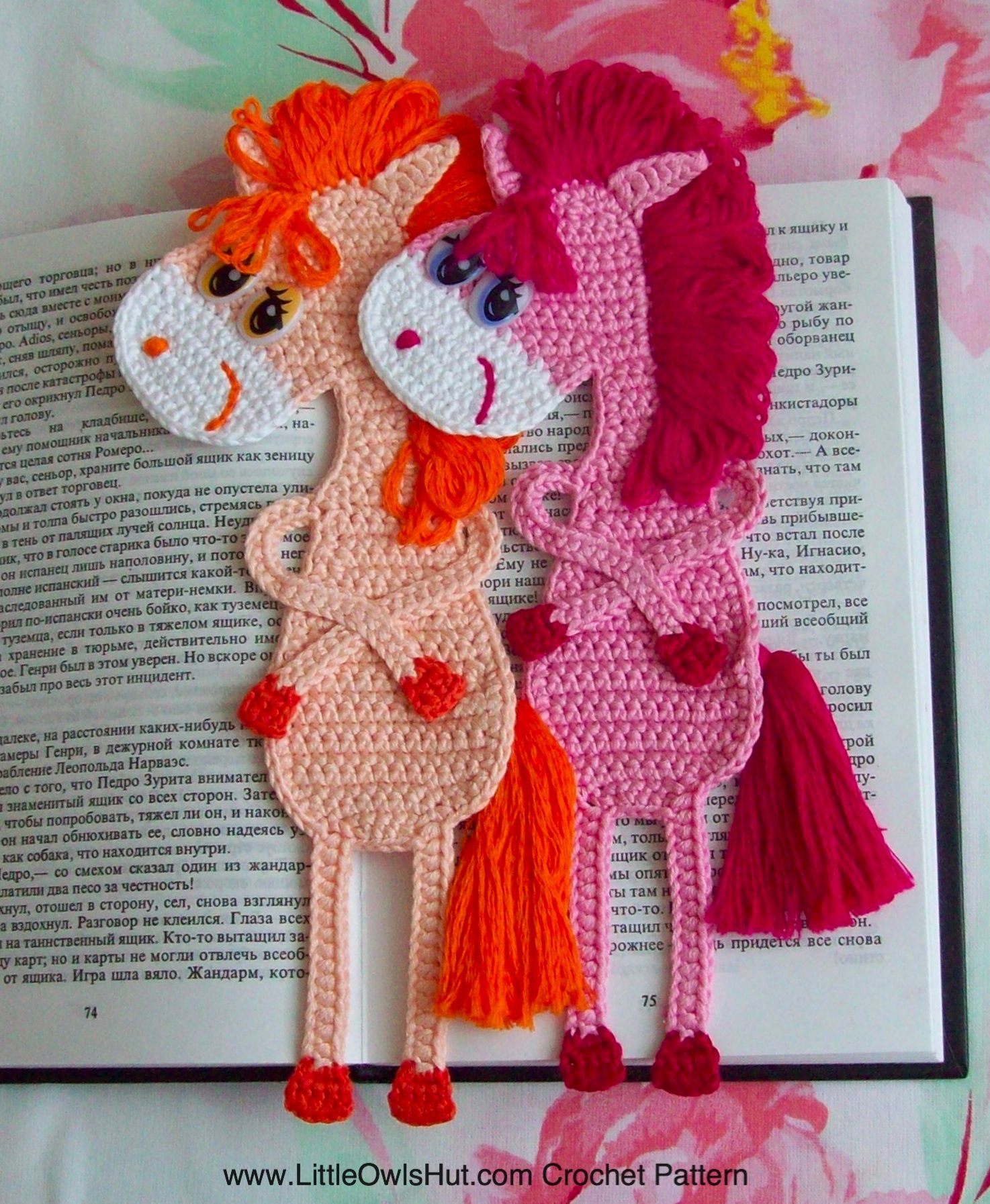 9 bookmarks set amigurumi crochet patterns 5 pdf files by 025 horse bookmark crochet pattern on ravelry by svetlana zabelina for littleowlshut bankloansurffo Gallery