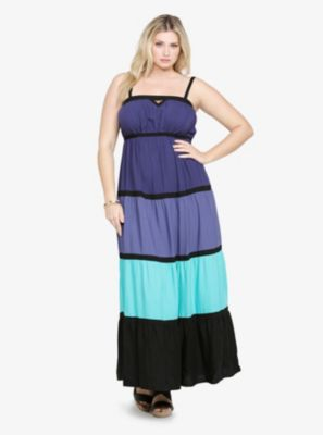 Colorblock Empire Gown