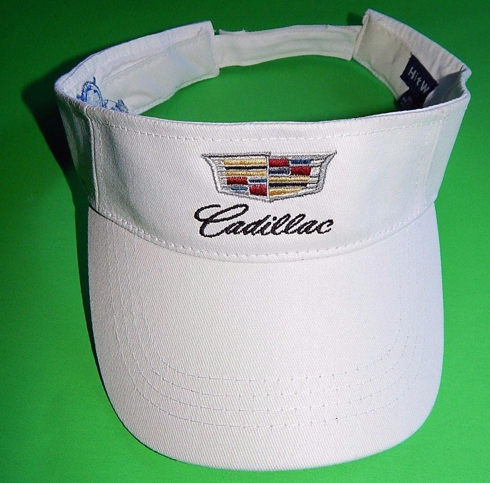 cb3c70732c0 CADILLAC Boeing Classic Adult White Sun Visor Cap Hat  HitWear  Visor   Cadillac  Hat  Boeing