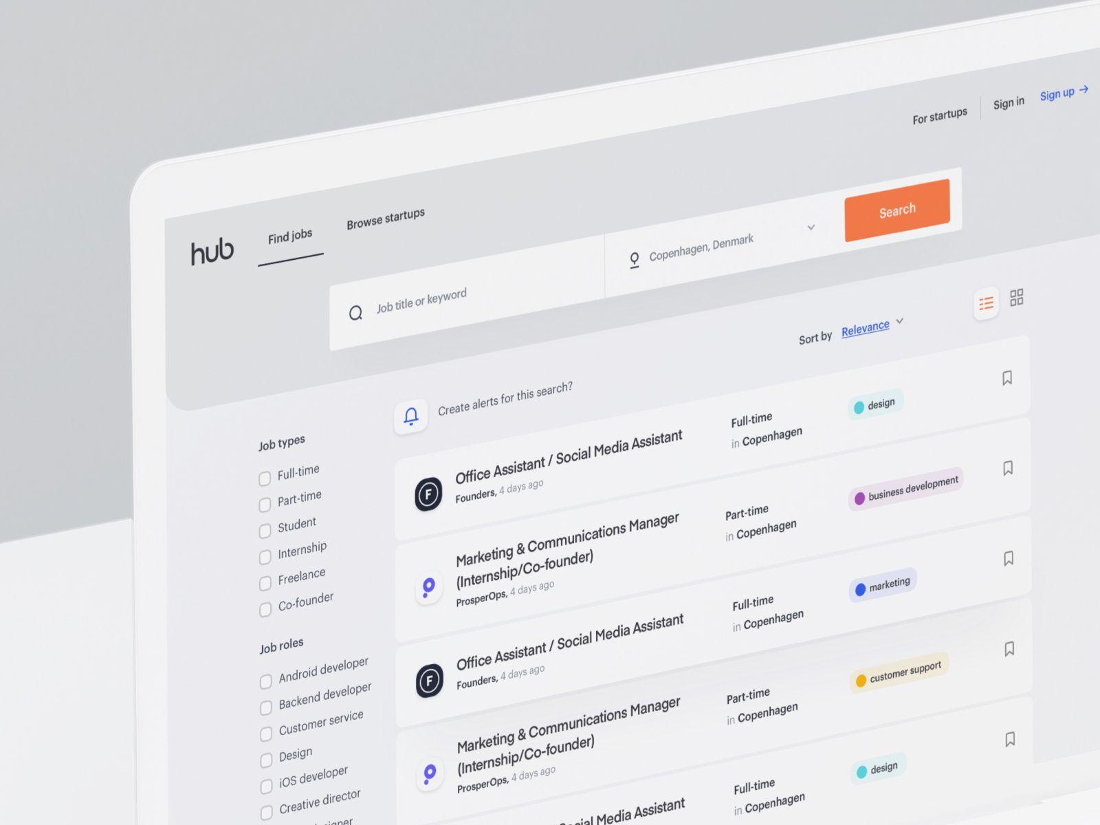 Thehub Search Jobs 02 Web Design Website Redesign Job