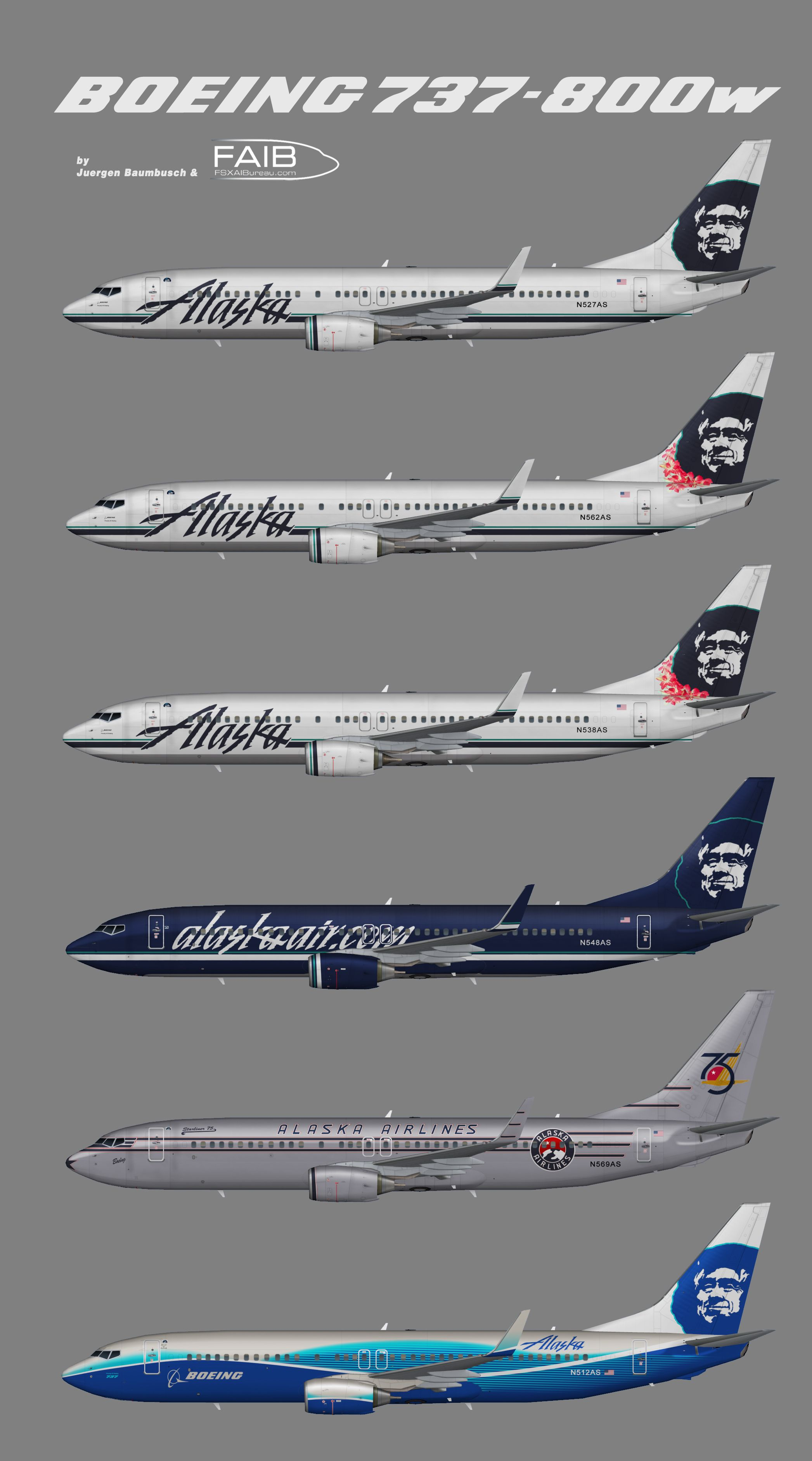 Alaska Airlines B737 800w