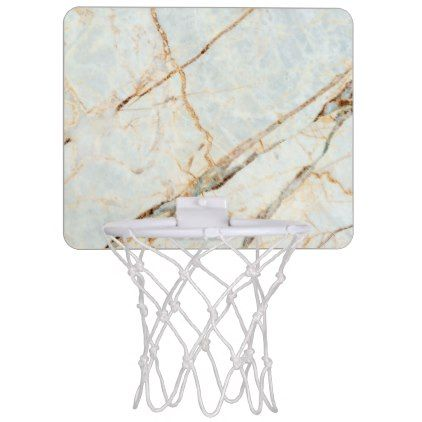 Marble stone pattern mini basketball hoop Zazzle pattern