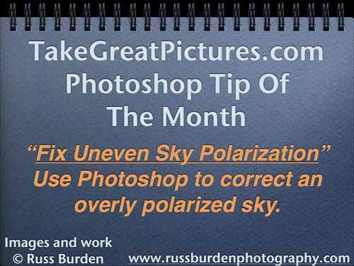 Fix uneven Skies do to polarization in photoshop
