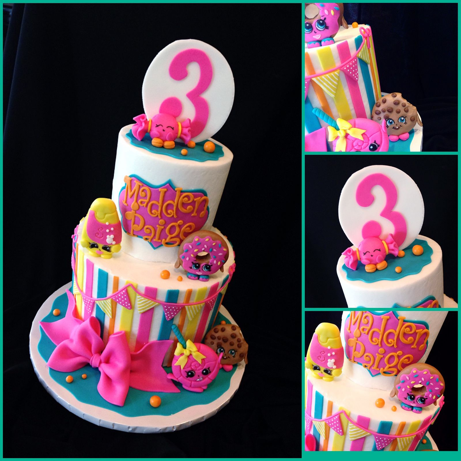 Cute Shopkins Birthday Cake Girl Birthday Cakes Pinterest - Cute easy birthday cakes