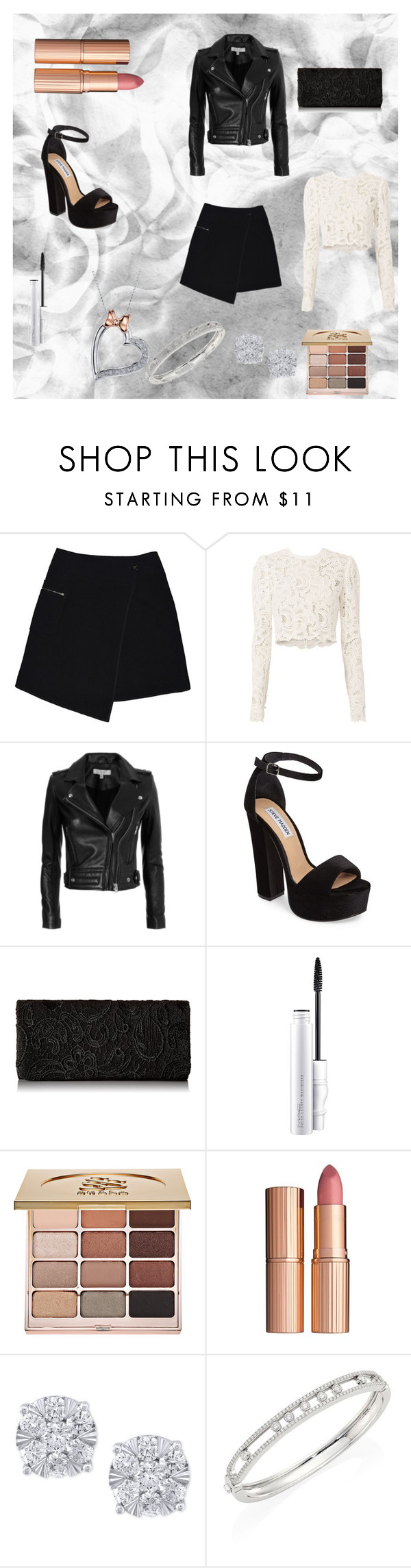"""""""Fancy"""" by kirstie04 ❤ liked on Polyvore featuring MARC CAIN, A.L.C., IRO, Steve Madden, MAC Cosmetics, Stila, Effy Jewelry, Messika, Disney and cute"""