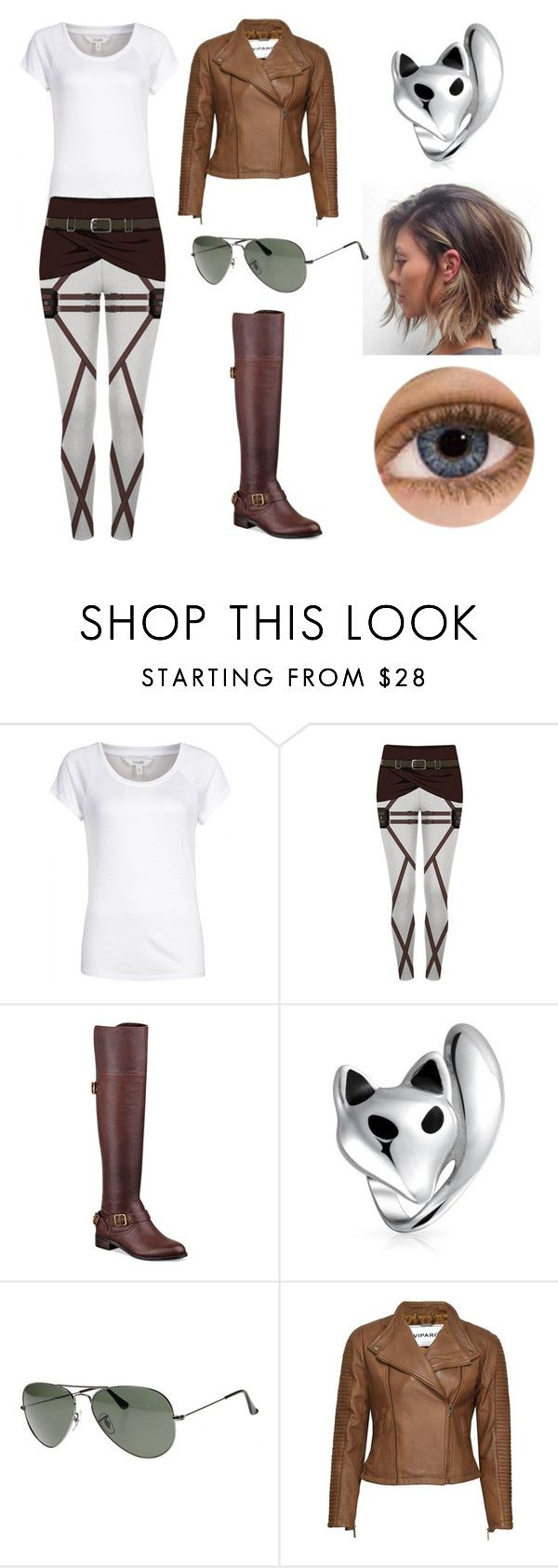 """""""Aot OC - Yuu"""" by awkward-goth ❤ liked on Polyvore featuring mbyM, GUESS, Bling Jewelry, Ray-Ban, Kaiser and VIPARO"""