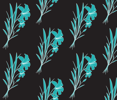 Megan_s_Lilies_small fabric by michelle_zollinger_tams on Spoonflower - custom fabric   $17.50