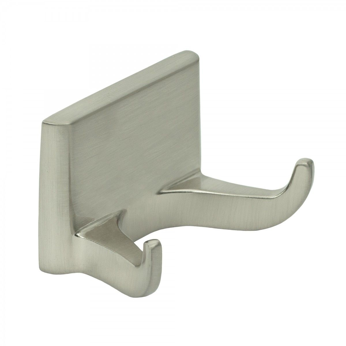 Franklin Brass Double Prong Robe Hook with Clear ... |Shower Rod Double Robe Hook