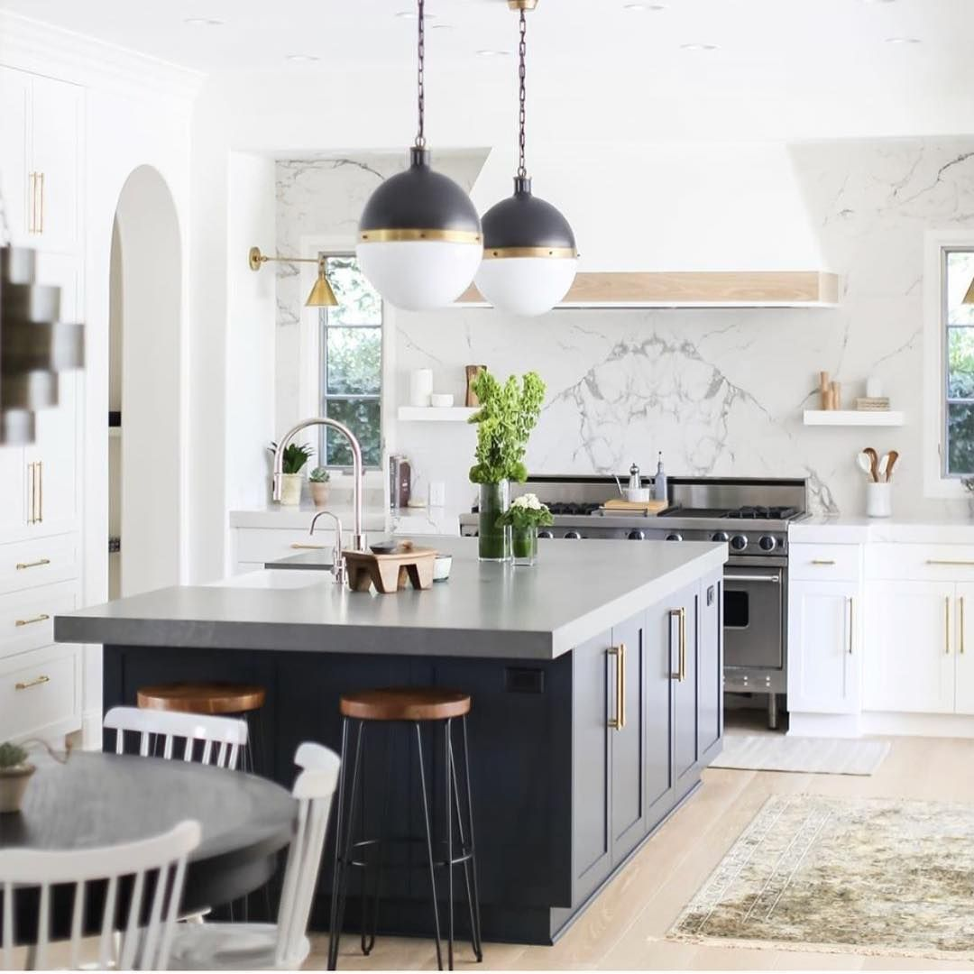 This Year Don T Be Afraid To Paint Your Kitchen Island A Different Color Than The Rest Of Your Cabinetry It M Elegant Kitchens Kitchen Design Stylish Kitchen
