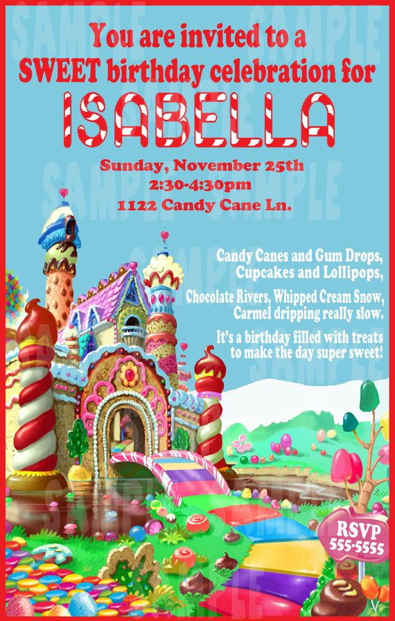 Candyland Birthday Party Invitation jpeg by CreativeSquiggles ...