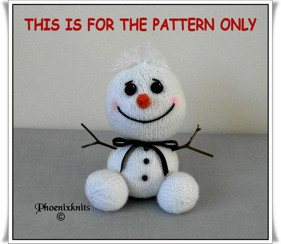 The Snowman Baby sits 6 inches high and is sure to bring a smile to the faces of everyone who sees him. Knitted flat, using 3mm needles with DK or