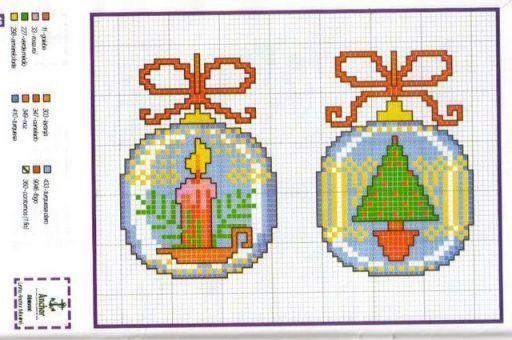 Boa quinta feira amigas!  deixo mais alguns Graficos natalinos para as bordadeiras de plantão!                                            ...