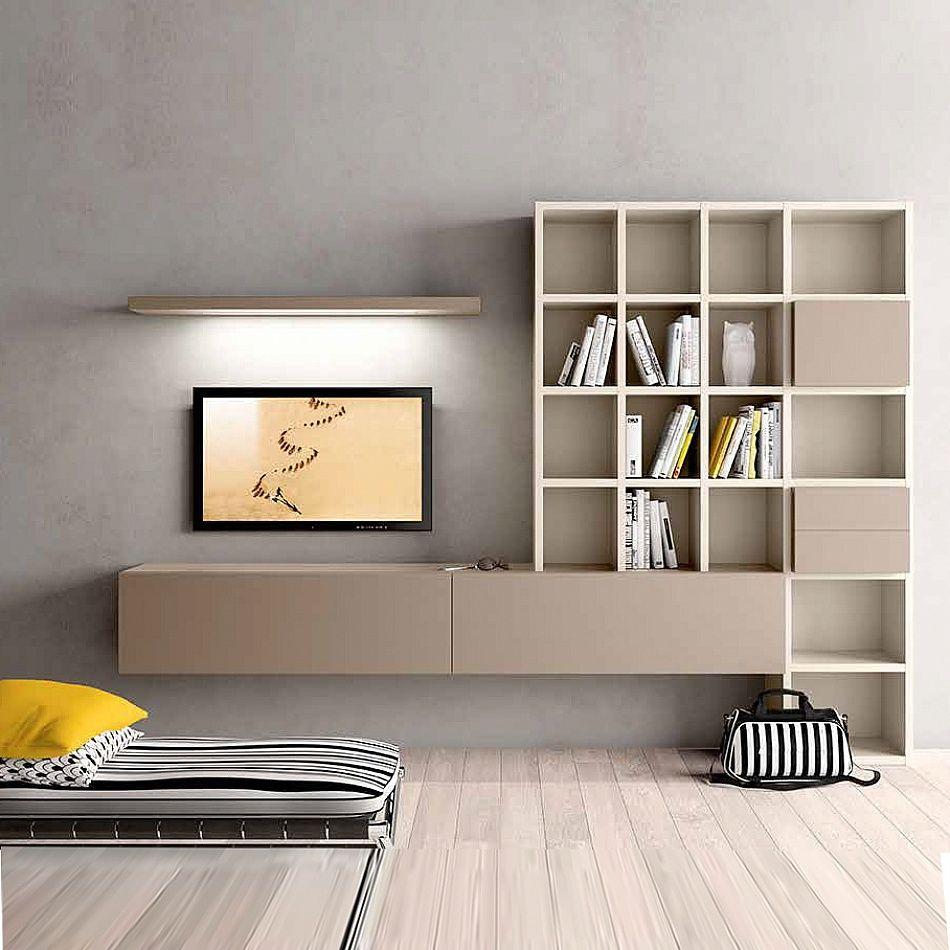 Sejour Meuble Tv Rangements Ouverts Et Fermes Interior  # Meuble Tv Ferme Design