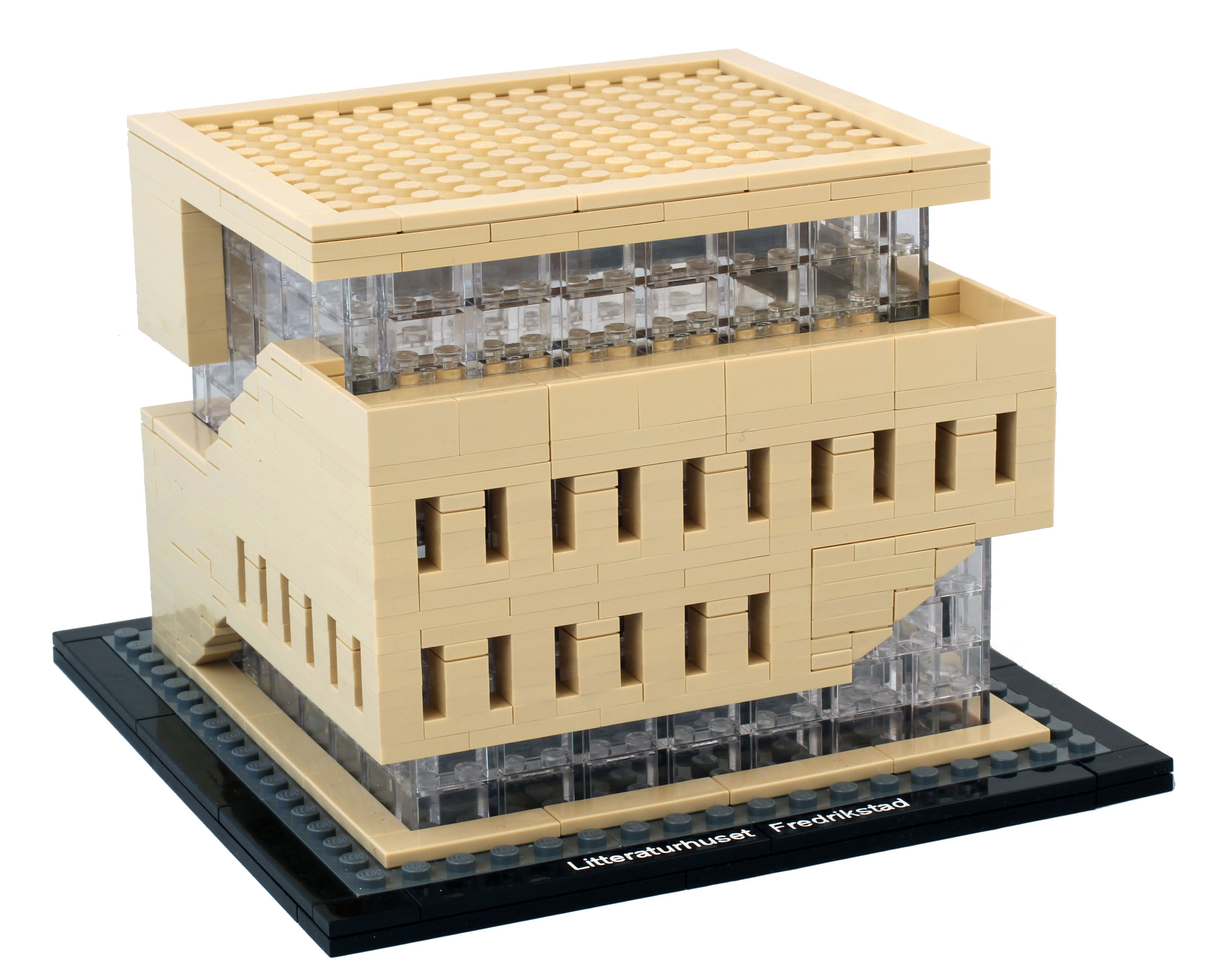Lego model of the house of literature in fredrikstad norway
