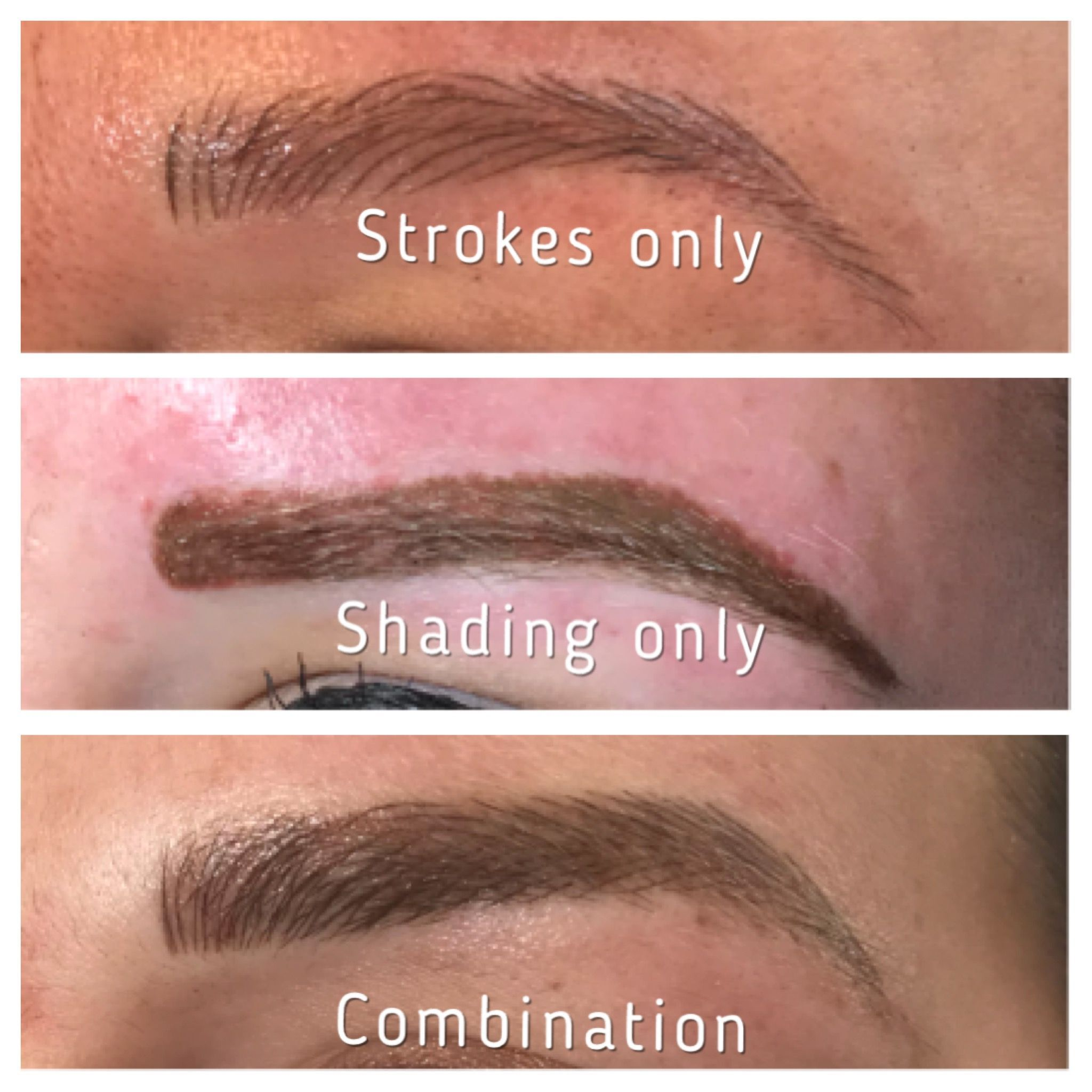 Permanent makeup, microbladed eyebrows, brow styles