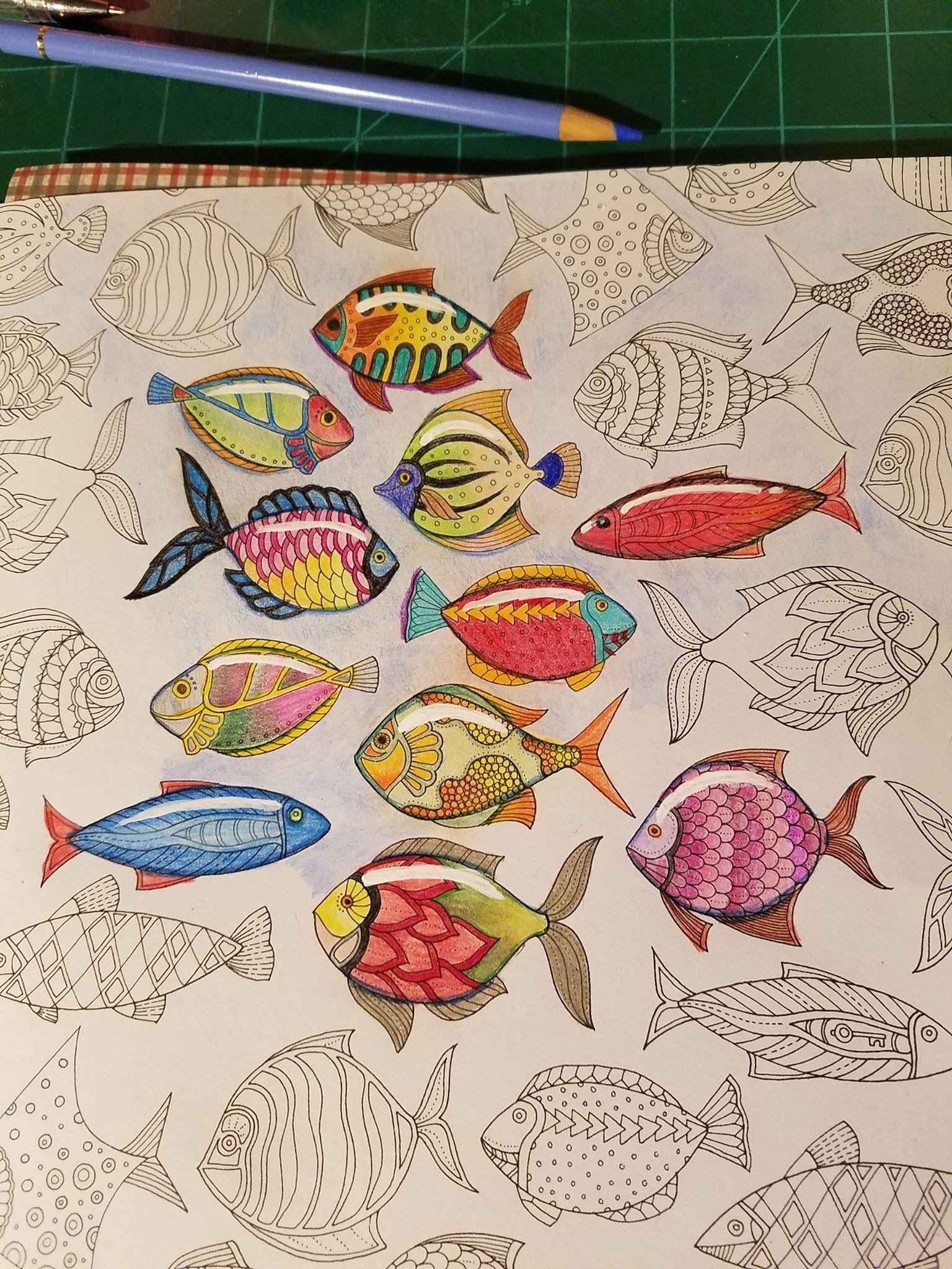 Johanna Basford Books Ocean Colors Joanna Coloring Colouring Prismacolor Color Combinations Pencil Vintage