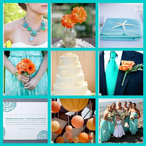 Decorating With Colors Mango: Yellow And Aqua And Orange Wedding