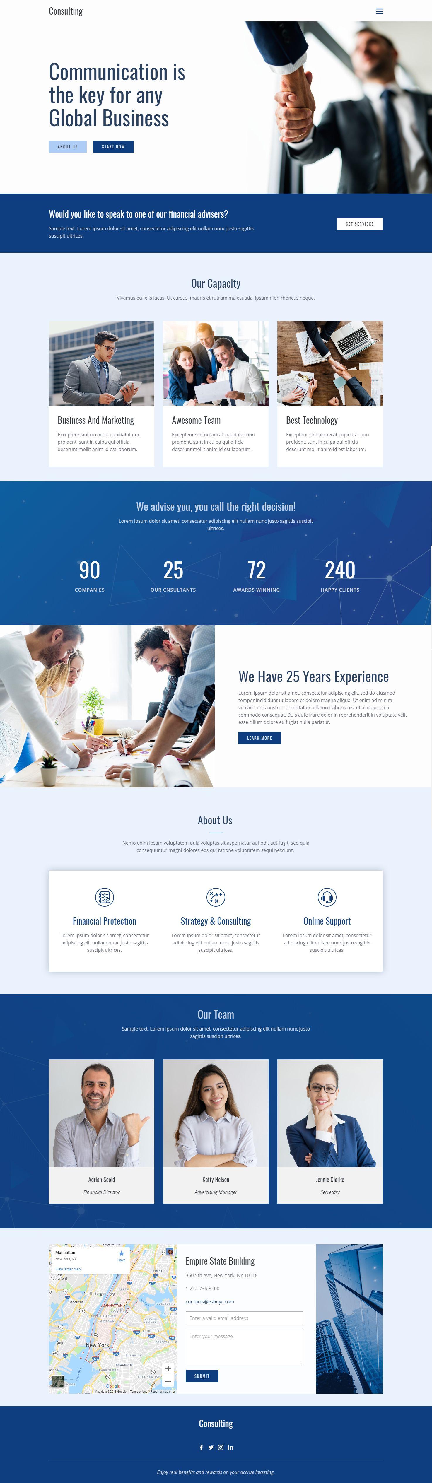 Business Web Template Click And Start Edit This Web Template Wordpress Theme And Joomla Template Nicep Business Web Design Joomla Beautiful Website Design