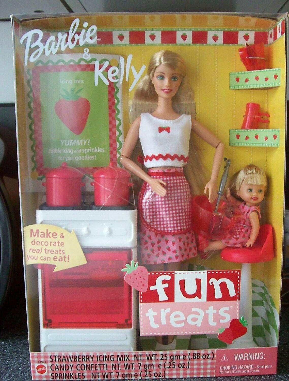 Barbie 55578 Ln Box Fun Treats Barbie Kelly 74299555787 Ebay In 2020 Barbie Kelly Barbie Barbie Doll Set