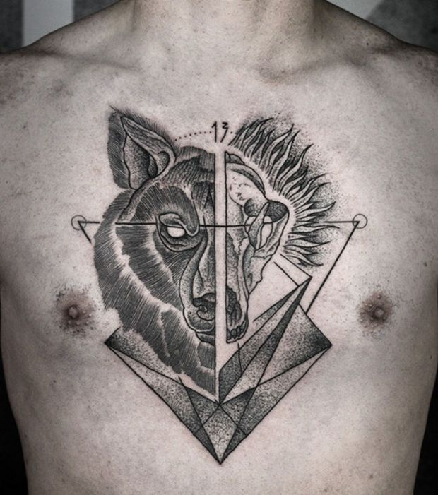 Souvent Tatouage loup dot work | Tattoo, Tatoo and Tatting QQ61
