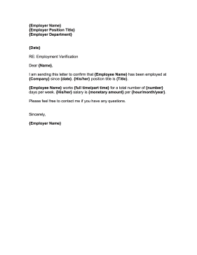 This Free Printable Employment Confirmation Letter Is Great For
