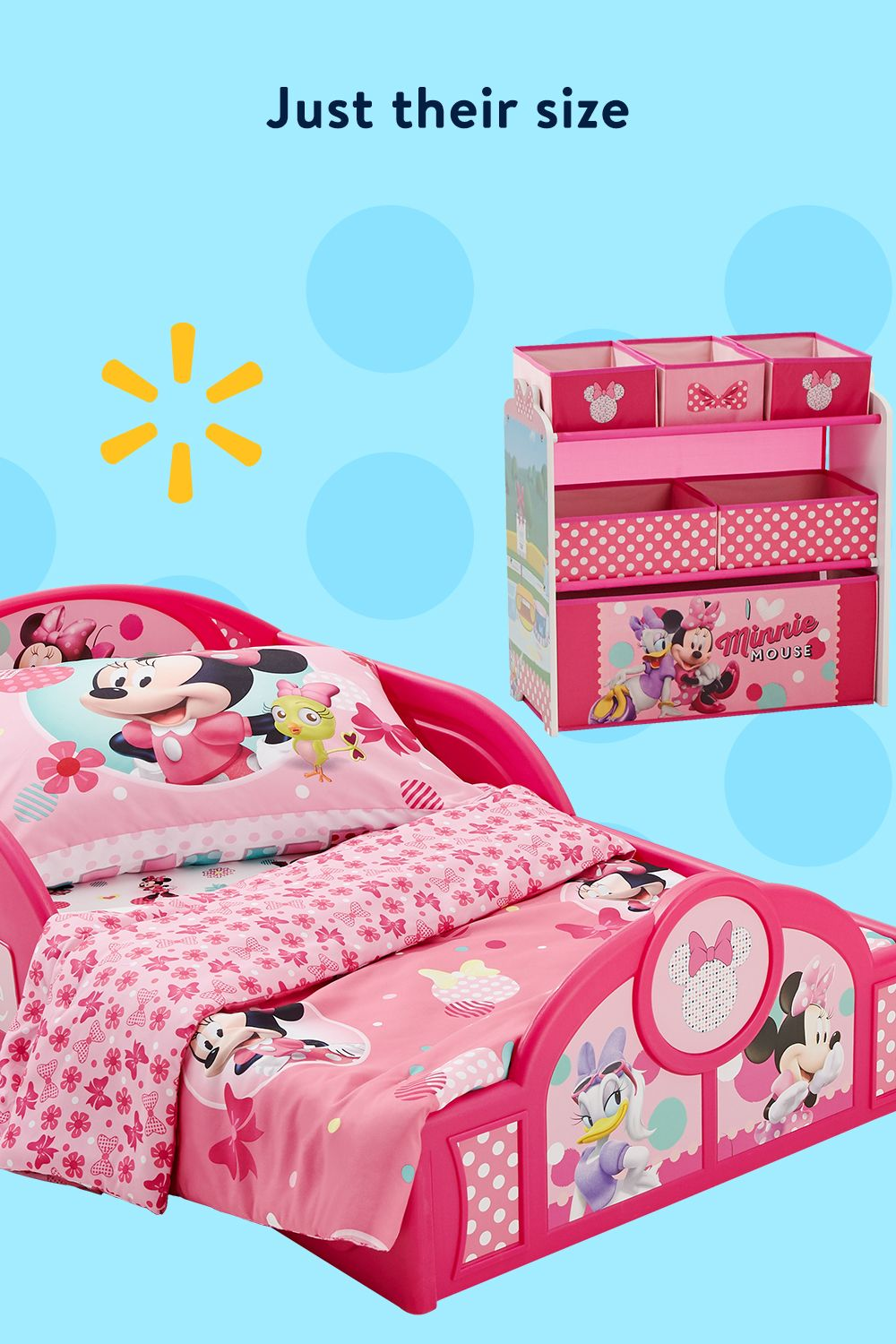 Disney minnie mouse 4piece roominabox bedroom set by