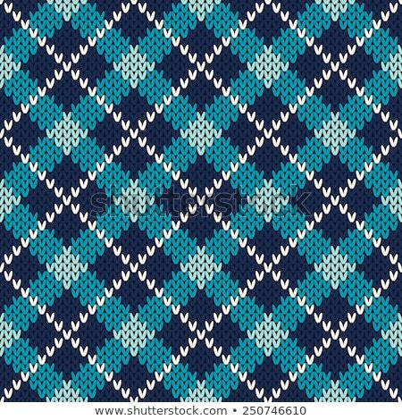 Argyle Knitted Pattern. Seamless Vector Background ...