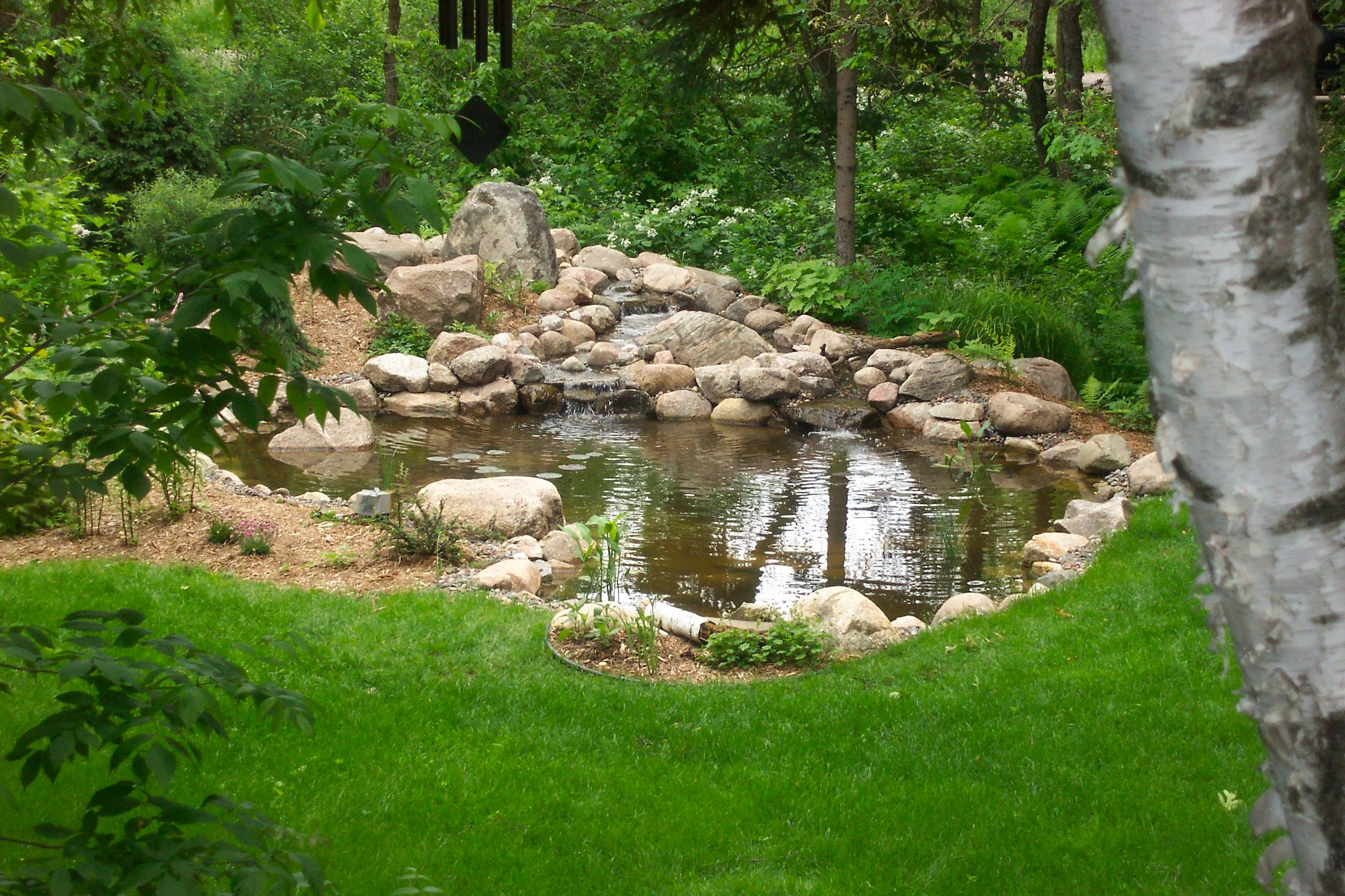 Genial Large Backyard Pond With Natural Stone Water Feature In St. Paul, MN