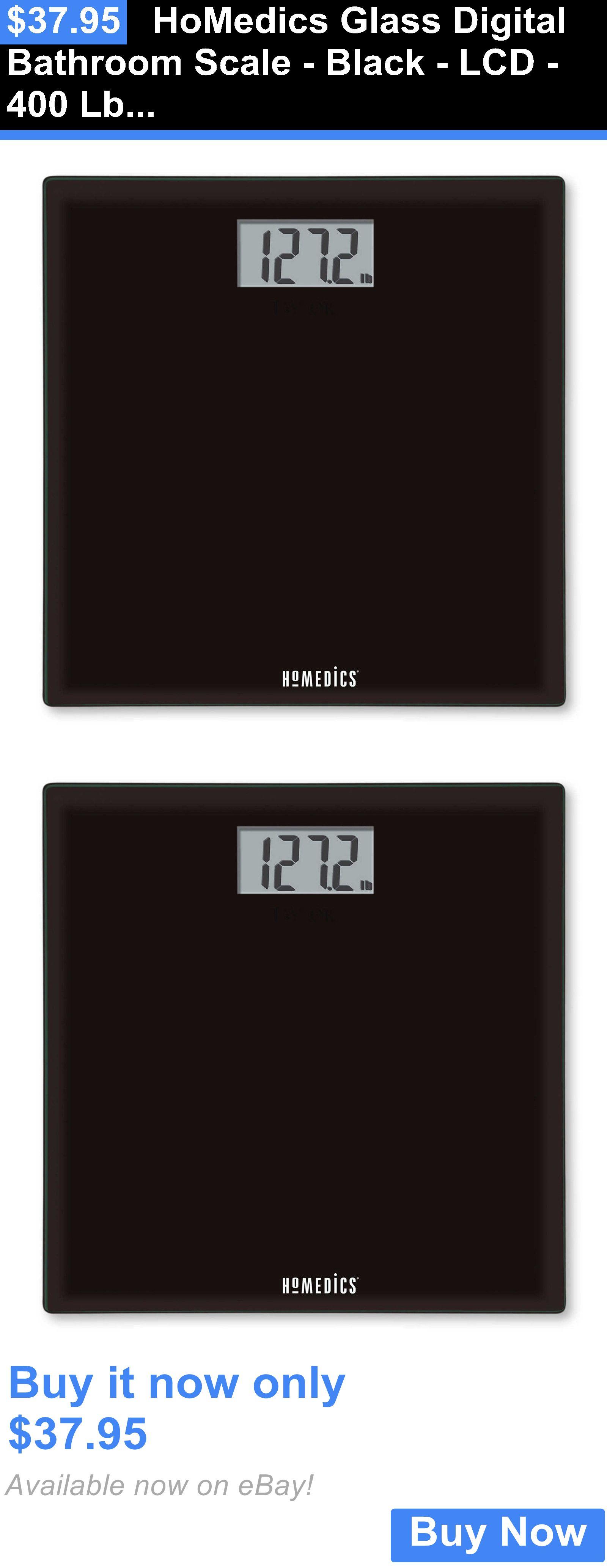 Black Bathroom Scales Scales Homedics Glass Digital Bathroom Scale Black Lcd 400