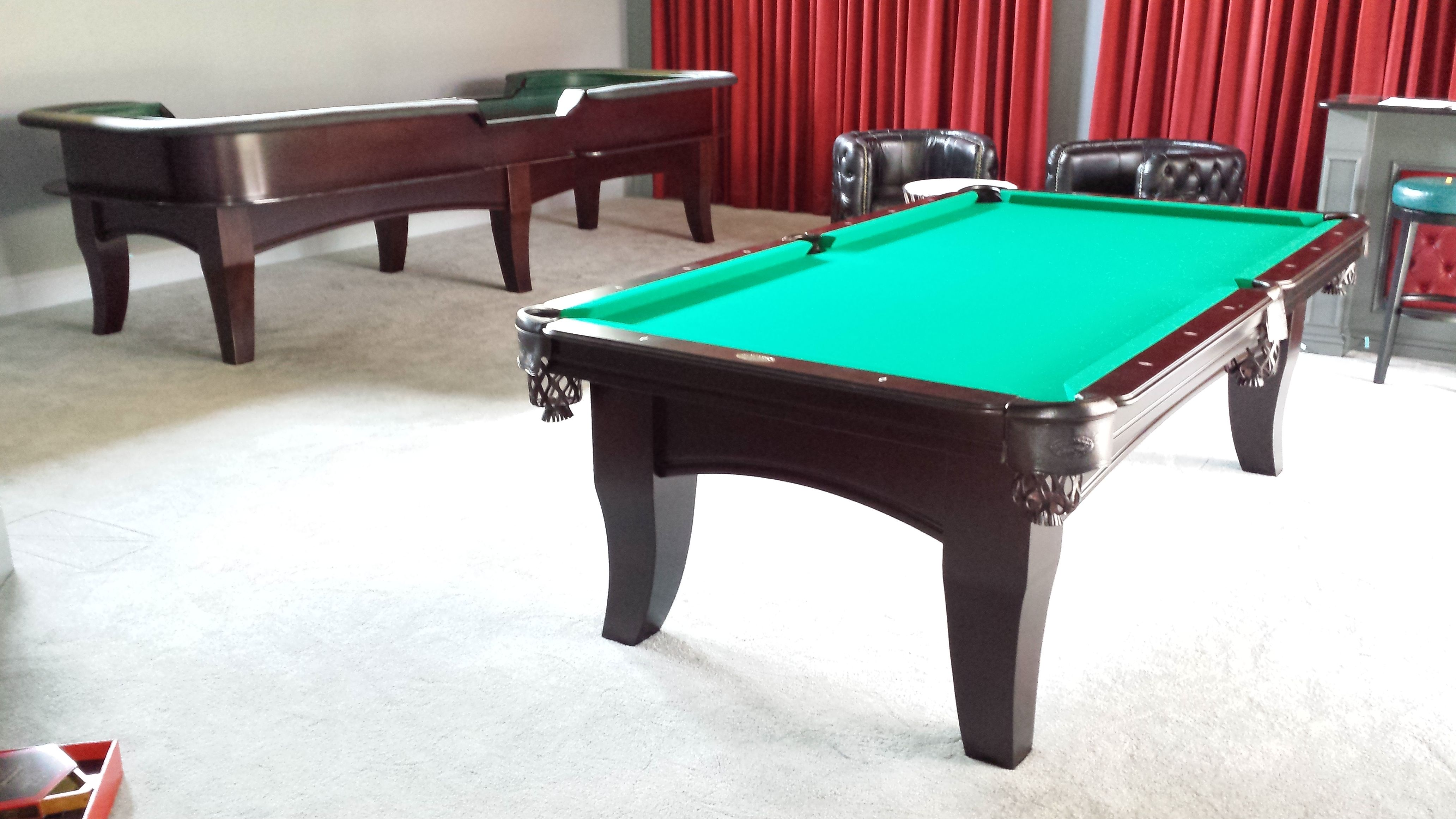 Olhausen Chicago Pool Table And Custom Craps Table Built To Match