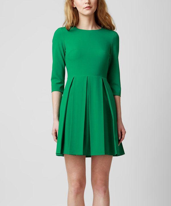 Another great find on #zulily! Green Renee Empire-Waist Dress by KORTAS #zulilyfinds