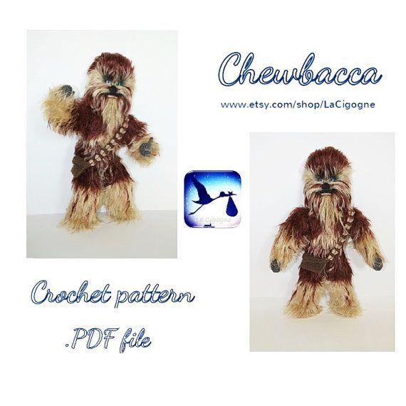 Star wars amigurumi crochet pattern. Chewbacca pattern. Crochet ...