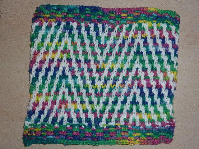 Zebra Chevron Washcloth | Slip stitch knitting, Dishcloth ...